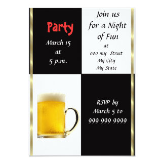 Fun Beer Party Invitation