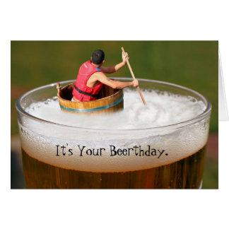 Fun beerthday birthday beer drinker greeting card