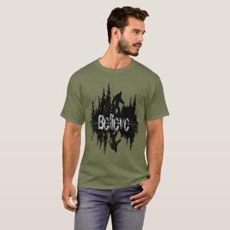 "Fun Believe Quote Sasquach or ""Big Foot"" T-Shirt"