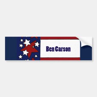 Fun Ben Carson Political Flag Art Bumper Sticker