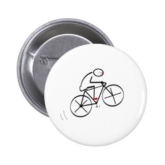 Fun Bicyclist Design 6 Cm Round Badge
