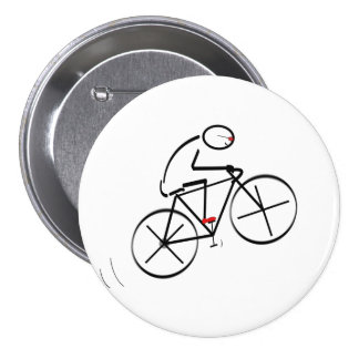 Fun Bicyclist Design 7.5 Cm Round Badge