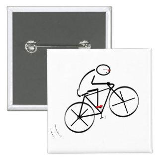 Fun Bicyclist Design 15 Cm Square Badge
