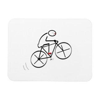 Fun Bicyclist Design Rectangular Photo Magnet