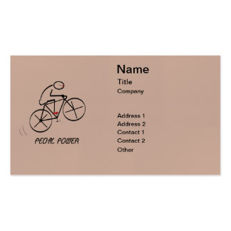 "Fun Bicyclist Design with ""Pedal Power"" text Double-Sided Standard Business Cards (Pack Of 100)"