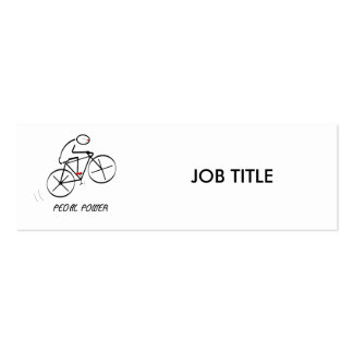 "Fun Bicyclist Design with ""Pedal Power"" text Pack Of Skinny Business Cards"