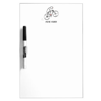 "Fun Bicyclist Design with ""Pedal Power"" text Dry-Erase Whiteboard"