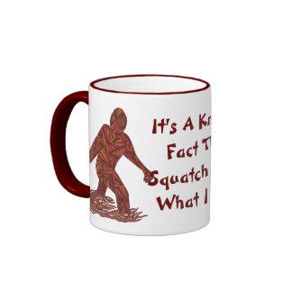 Fun Bigfoot Sasquatch Yeti Cryptid Squatch Facts Ringer Mug