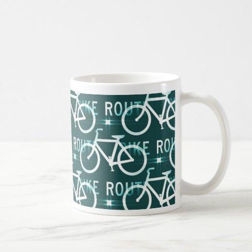 Fun Bike Route Fixie Bike Cyclist Pattern Mugs
