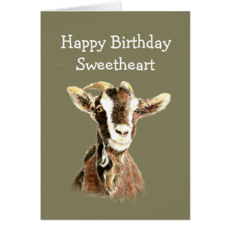 Fun Birthday, From the Old Goat who Loves YOU Card
