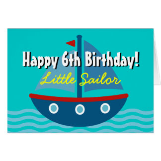 Fun Birthday greeting card for kids | Toy sailboat
