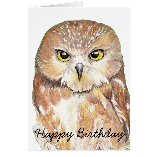 Fun Birthday Humor Owl, Bird, Nature, Wildlife Greeting Cards