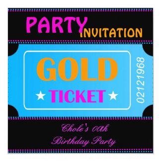 Fun Birthday Party Girls Teen Tweens Hot Pink Card