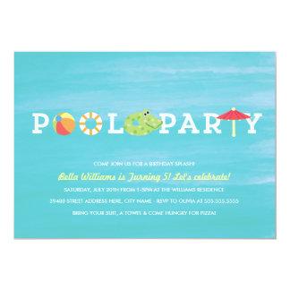 Pool Party Invitations & Announcements | Zazzle.co.uk