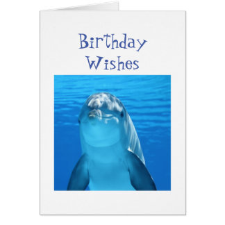 Fun Birthday Wishes Porpoise or Dolphin Greeting Card