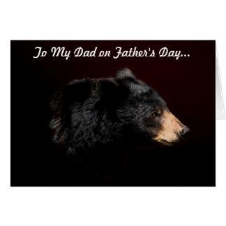 Fun Black Bear Bear Hug Father s Day Card