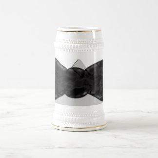 Fun Black Bow-tie art Beer Stein
