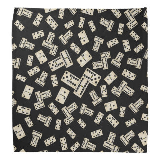Fun black domino pattern bandana