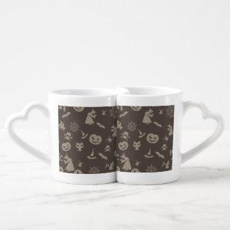Fun Black & Grey Halloween Design Lovers Mug