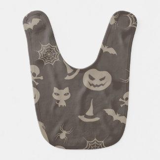 Fun Black & Grey Halloween Design Bibs
