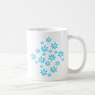 Fun Blue Floral Coffee Mugs