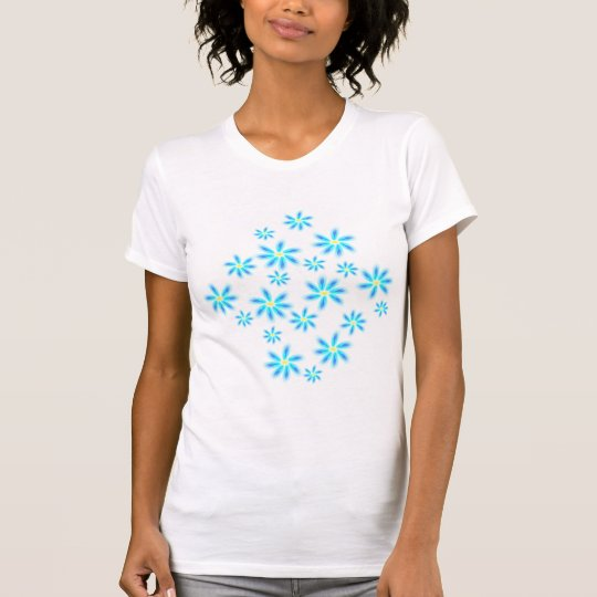 Fun Blue Floral Tee Shirt