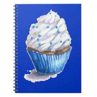 Fun Blue Velvet Cupcake Notebook