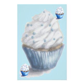 Fun Blue Velvet Cupcake Stationary Stationery
