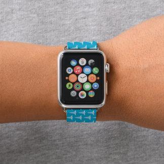 Fun blue white nurse pattern apple watch band