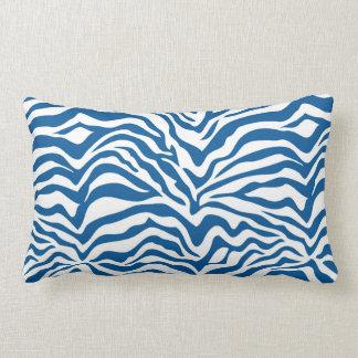 Fun Blue Zebra Stripes Wild Animal Print Pillow