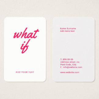 Fun & Bold Networking Card Template
