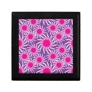 Fun Bold Spiraling Wheels Hot Pink Purple Pattern Trinket Box