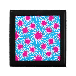 Fun Bold Spiraling Wheels Hot Pink Teal Pattern Gift Box