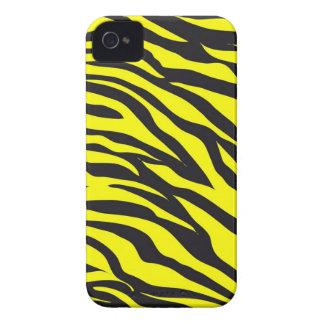 Fun Bold Yellow Zebra Stripes Wild Animal Print iPhone 4 Case-Mate Cases