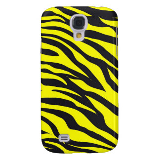 Fun Bold Yellow Zebra Stripes Wild Animal Print Galaxy S4 Case