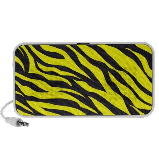 Fun Bold Yellow Zebra Stripes Wild Animal Print PC Speakers