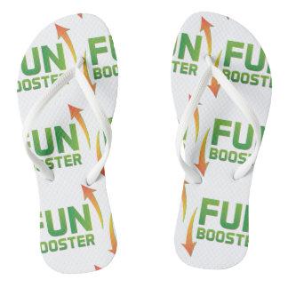 Fun booster super cool crazy funny flip flops