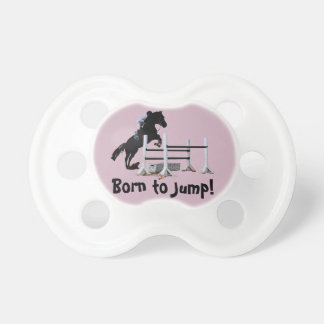 Fun Born to Jump Equestrian Baby Pacifiers