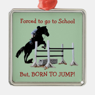 Fun Born to Jump Equestrian Christmas Ornament