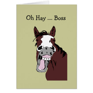 Fun Boss Birthday Great Day to Horse Around Cards
