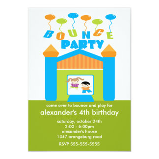 Fun Bounce House Birthday Party Card