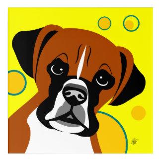 Fun Boxer Breed vector Art