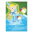 Fun Boy Pool Birthday Party Invitation