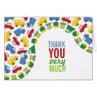 Fun Boy Toys Cars Trains Bus Trucks Thank You Card