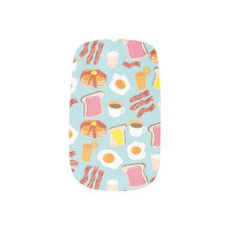 Fun Breakfast Food Illustrations Pattern Minx Nail Art