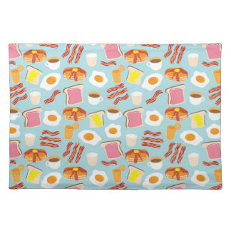 Fun Breakfast Food Illustrations Pattern Placemat