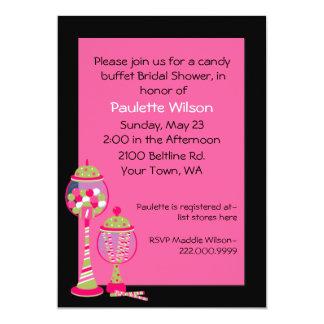 Fun Bridal Shower Candy Buffet Invitation