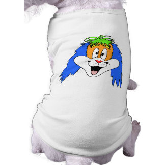 Fun Bright and Colorful Dog Cartoon. Dog Clothes