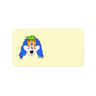 Fun Bright and Colorful Dog Cartoon. Label