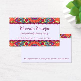 Fun Bright Bohemian Mandala Business Card